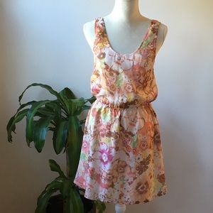 Size 4 J. Crew Silk Floral watercolor Day Dress